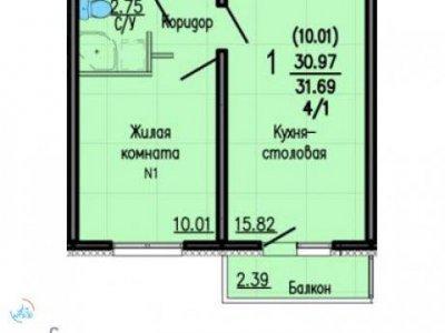 1-к. кв. ЖК Мичуринский, 32 м2, 2/5 эт.