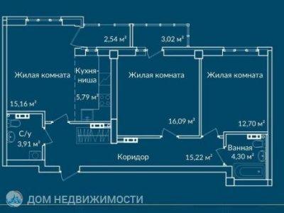ЖК Новая Ботаника, 76 м2, 10/24 эт.