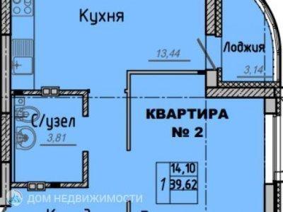 1-к. кв. ЖК Рябиновый, 40 м2, 2/16 эт.