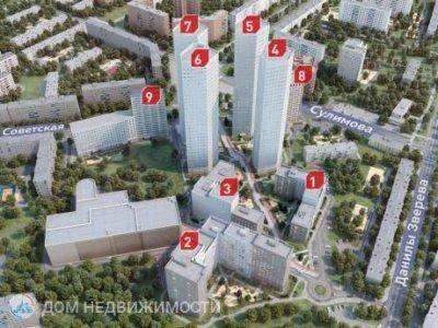 3-к ЖК Цветной бульвар, 80 м2, 25/32 эт.